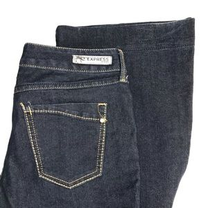 Express Stella Sz 2 Flair Jeans Dk Wash